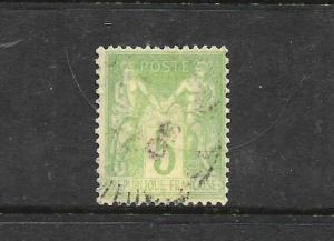 FRANCE  1876-95  5c    P&C   FU  TYPE 1  SG 215