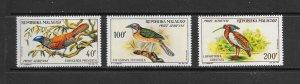 BIRDS - MALAGASY #C72-4  MNH