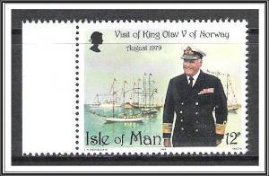 Isle Of Man #176 King Olav V MNH