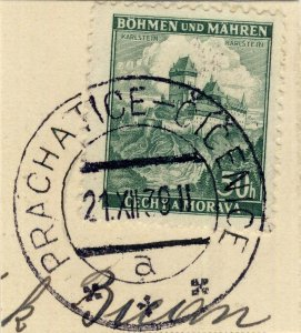 BÖHMEN u. MAHREN 1940 PRACHATICE-CÍCENICE a * * *  railway carrier CDS /Mi.26