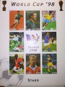 ZAMBIA WORLD CUP STARS FRANCE 1998 SHEET