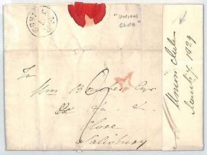 GB Cover INSPECTORS STAR 1829 *Union Club* London Letter {samwells-covers} BM243