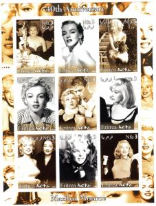 Eritrea 2002 MARILYN MONROE 40th.Anniversary Sheetlet Imperforated (9) MNH