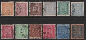 Portugal Scott #68-78 Complete Set Used Stamps, CV $287.75