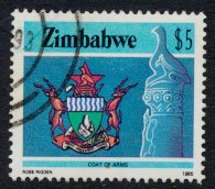 Zimbabwe SG 680  SC# 514  Used   Coat of Arms  see detail and scan