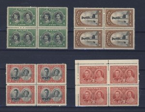 16x Canada Royalty Stamps4x  Blocks of 4, 3x MH, 1x Block MNG. SEE SCANS!!