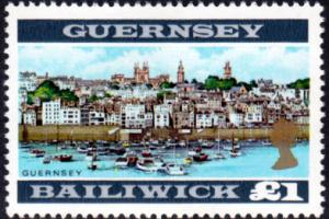 Guernsey Stamp, Great Britain Issues, Scott #22, Mint Never Hinged MNH, 10 Sh...