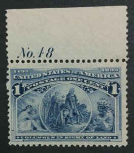 MOMEN: US #230 MINT OG **NH** POST OFFICE FRESH #31112-1