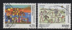 Greenland Sc 336-7 1998 Europa stamp set used
