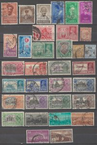 COLLECTION LOT # 3708 INDIA 33 STAMPS 1882+ CV+$37