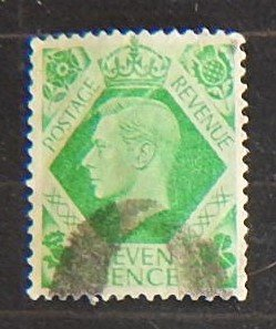 King George VI, 1937-1939 ,Great Britain, SC #7p, (2020-T)