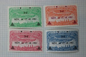ASDA Natl Postage Stamp Show 1951 7Line Reg Armory Philatelic Souvenir Ad Label