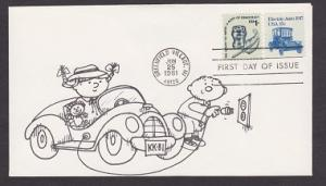 1906 Electric Auto transportation coil Unaddressed unknown to me cachet FDC