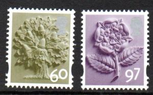 Great Britain England Sc 22-3 2010 60p tree & 97p rose stamp set mint NH