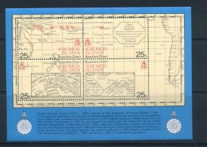 Solomon Islands MNH S/S 443 Charts Of Mapmaker Jean Nicholas Bauche