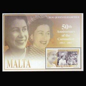 MALTA 2003 - Scott# 1133 S/S Coronation NH