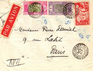 French Guinea 75c and 1F Ford at Kitim and 90c Paris International Colonial A...