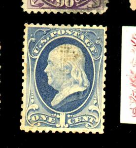 U.S. #134 MINT F-VF OG HR Thins Cat$ 2000