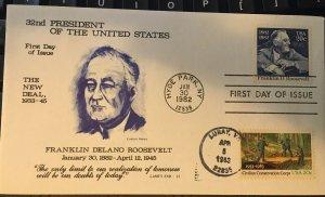 Land's End 1950 2037 15F Franklin D Roosevelt Civilian Conservation Corps Dual