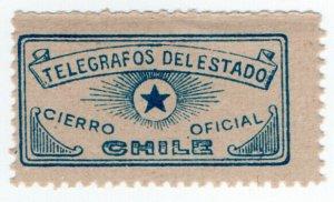 (I.B) Chile Telegraphs : Official Envelope Seal