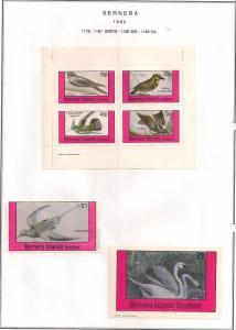 SCOTLAND - BERNERA - 1982 - Birds (20) - 4v Perf, Min, D/L Sheets - MLH