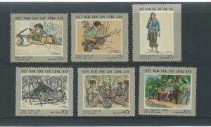 Vietnam 1969 MNH Stamps Scott 575-580 Soldiers Scenes of War Guerilla Paintings