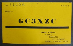 5893 Amateur Radio QSL Card Jersey Channel Isles