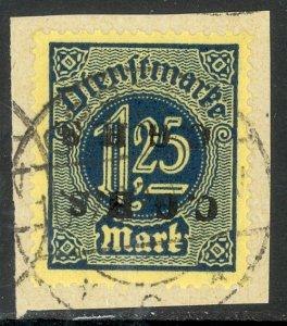 UPPER SILESIA 1920 1.25m Official C.G.H.S. DOUBLE INVERTED on Piece Mi.D17 X