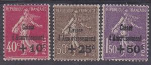 FRANCE 1930 SINKING FUND SET