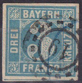 Bavaria #3  F-VF  Used CV $3.50  (Z6813)