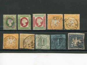 German States lot  used F-VF shades - Lakeshore Philatelics