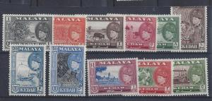 Malaya (Kedah), 83-93, Various Designs Singles,**LH/H**