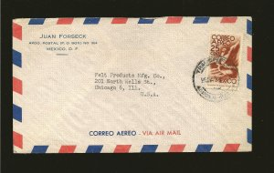 Mexico C141 on Airmail Cover to USA Used