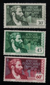 French Equatorial Africa # 42,46,50  M  SCV $ 5.45