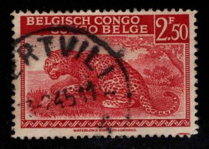 Belgian Congo Scott 219 Used Leopard stamp