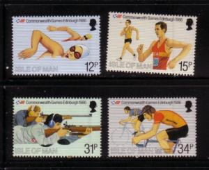Isle of Man Sc 297-0 1986 Games stamp set mint NH