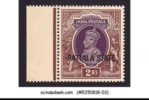PATIALA STATE - 1937-38 2r KGVI OVPT SG#93 - 1V - MINT NH