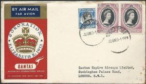 SINGAPORE 1953 Qantas Coronation flight to London..........................46813