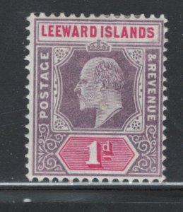 Leeward Islands 1902 King Edward VII 1p Scott # 21 MH