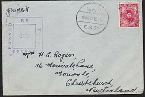 EGYPT NEW ZEALAND FORCES 1942 censor cover - Army Post 10m.................8950