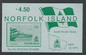Norfolk Island MNH booklet  sc 481a/ sg sb2