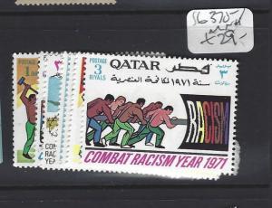 QATAR (P1906BB) COMBATTING RACISM SG 370-9   MNH