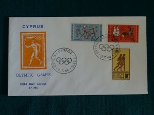 Cyprus 1964 Olympic Games Tokyo Unofficial FDC.