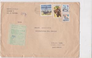 Slovakia 1997 Airmail to Austria Buildings cattle & Aviation Stamps Cover  22880