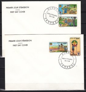 Senegal, Scott cat. 897-900. Scouting issue on 2 First day covers. ^