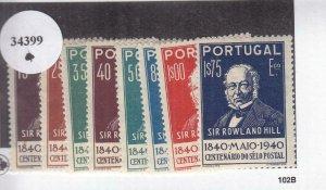 Portugal: Sc #595-602, MH (34399)