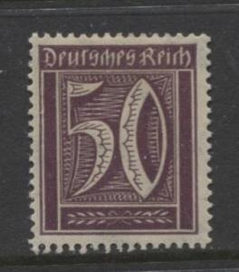 GERMANY. -Scott 167- Definitives -1921- MH - Wmk 126 - Single 50m Stamp