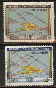Dominican Republic Scott C62-63 used Airmails