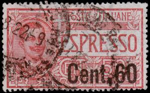 Italy Scott E11 (1922) Used H F-VF B