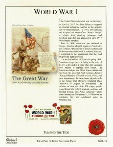 Goodman Art Cachet 5300 World War I The Great War Poppy Cancel Souvenir Page
